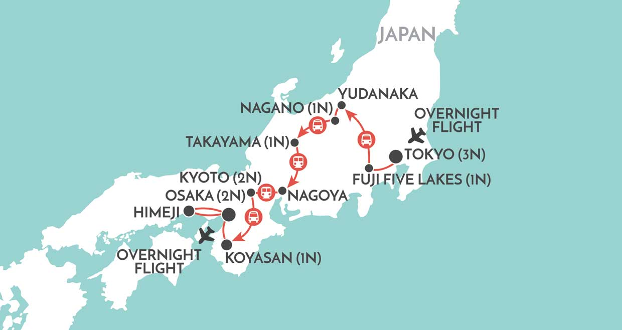 Off-Beat Japan map