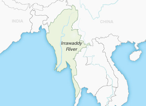 Irrawaddy River Map Irrawaddy River | Myanmar | Wendy Wu Tours